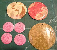 Etcetorize: DIY Paper Jewellery: Mod Podge + thick decorative paper = jewelry!