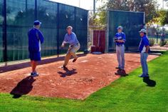 Koufax, Hershiser and Honeycutt are coaching Stripling, pic via Dodgers on twitter