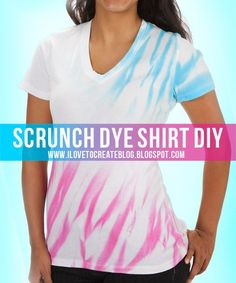 Sometimes people only think of tie dye in bullseye and swirls; but the tie dye of today is much cooler and fashion forward. sharpie tye dye t shirt Shirt Diy, Diy Tie Dye Shirts, Dye T Shirt, Diy Tank, Tie Dye Crafts, Tie Dye Techniques, Do It Yourself Fashion, How To Tie Dye, Textiles
