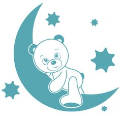 Kids Room Wall Stickers, Wall Decals, Baby Silhouette, Love Symbols, How To Fall Asleep, Oriental, Presents, Teddy Bear, Nursery