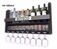 adega madeira vinhos bebidas suporte parede taças copos bar