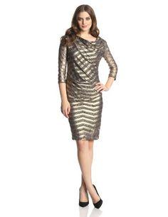 Vivienne Westwood Anglomania Women's Pax Metallic Striple 3/4 Sleeve Dress