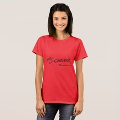 Mustafa Kemal Ataturk Signature Red T-Shirt (W) - red gifts color style cyo diy personalize unique