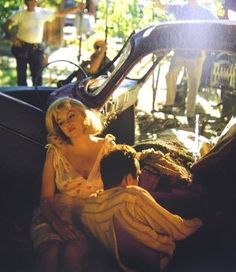 Marilyn Monroe, Montgomery Clift, on the set of The Misfits, Nevada, 1961 Photo by Eve Arnold