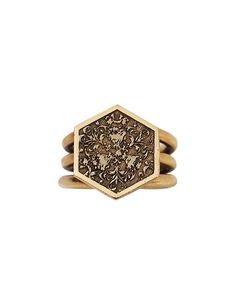 Paramount Statement Ring in  Antiqued Brass  by Annachich Jewelry | Inspired by Architecture | Handmade in California
