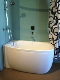 soaker tubs for small spaces - considering a small combo for our micro sized bathroom.