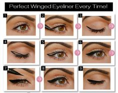 Eye make up is an art...But it's easy too! Here's a great tutorial for the perfect eye liner. Share this post and pass on the wisdom!