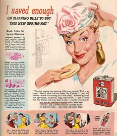 1947 A-Penn ad.  Women actually paid to have spring cleaning done until this stupid product came out and ruined it for the rest of us.