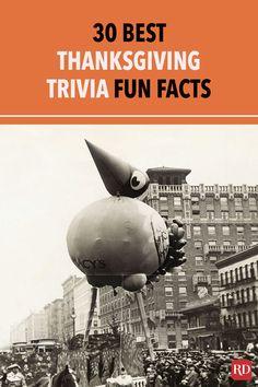 30 Best Thanksgiving Trivia Fun Facts