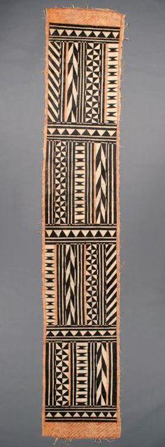 Fijian artist, Loincloth, early Bark and paint, Native Arts acquisition fund, Samoan Patterns, Tribal Patterns, Hawaiian Crafts, Hawaiian Art, Tapas, Polynesian Art, Aboriginal Artists, Fabric Rug, Textiles
