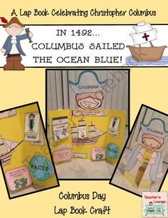 Columbus Day Craft - Lap Book Writing Activity from Teacher's Lounge on TeachersNotebook.com -  (16 pages)  - Kids will love learning about Christopher Columbus with this Lap book writing activity.