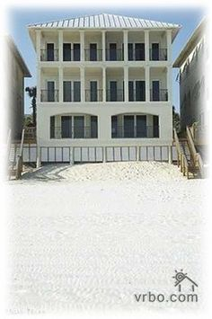 Destin House we rented in Best vacation ever. Rented with friends and had lots of fun! Miramar Beach, Beach Vacation Rentals, Destin Beach, Best Vacations, Ideal Home, Multi Story Building, Villa, Outdoor Decor, House