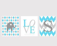 Baby  Boy  Nursery13x19  set of 3 printsChoose your by kshoodesign, $95.00