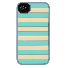 Flexible iPhone 4/4s Turquoise Stripes Silicone Case | Agent18