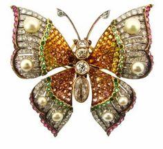 1920's Gem-Set Butterfly