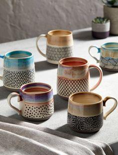Buy John Lewis & Partners Reactive Glaze Jumbo Mug, Blue Sea from our Mugs range at John Lewis & Partners. Stoneware Mugs, Ceramic Mugs, Earthenware, Ceramic Art, Ceramic Painting, Ceramic Bowls, Pottery Mugs, Ceramic Pottery, Pottery Art