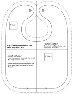 Free Printable Baby Bib Patterns | Adult bibs – Free sewing projects, free learn to sew articles #bebe