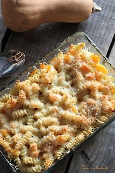 Butternut & Comté Lolo pasta gratin with its Tambouille - Easy Healthy Recipes, Quick Easy Meals, Baby Food Recipes, Meat Recipes, Pasta Recipes, Crockpot Recipes, Dinner Recipes, Cooking Recipes, Recipe Pasta
