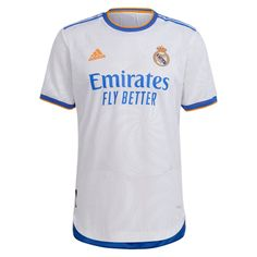 Real Madrid 21/22 Home Match Jersey Personalized Name and Number