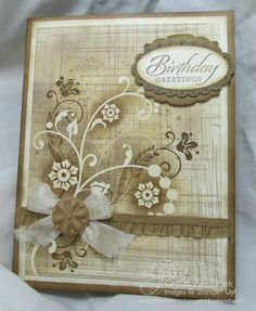 Gorgeously Grungy Flourishes/emboss resist card by Lyssa Zwolanek for Song of My Heart Stampers