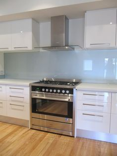 White Kitchen Grey Splashback kitchen - light grey splash back glass | kitchen ideas | pinterest