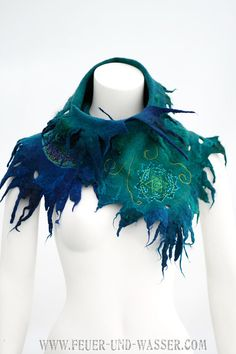 Love this!  Felted scarves Heart Chakra  handmade felted by FeuerUndWasser, $125.00