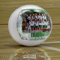 """The perfect end of season or """"good luck"""" team gift! Custom volleyball gifts for players, for teammates, and coach! Check out more photo customized sports gift ideas by Make A Ball  #volleyballgiftsfor teammates#forcoach #forgirls #endofseason #bigsister #ideas #sister #personalized #goodluckteam #8thgradenight"""