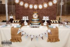 Burlap diaper cakes | The Safari party ideas and elements that I like best from this darling ...