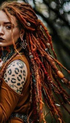 She had wickedly red dreads dreads naturlocken + Dreadlock Hairstyles, Cool Hairstyles, Wedding Hairstyles, Black Hairstyles, Pelo Hipster, Curly Hair Styles, Natural Hair Styles, Locs Styles, Natural Hair Accessories
