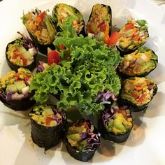 Raw Sushi, Health Coach, Ios App, Raw Food Recipes, Sprouts, Vegetables, Instagram Posts, Gourmet, Raw Recipes