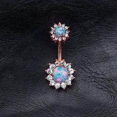 Opal Zircon Flower Belly Button Rings - Opal Zircon Flower Belly Button Rings You are in the right place about Piercing ceja Here we offer - Tragus Piercings, Cool Piercings, Piercing Ring, Belly Piercings, Ear Gauges, Piercing Ideas, Conch Earring, Helix Earrings, Pearl Earrings