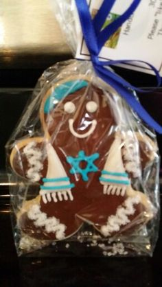 Adorable Hanukkah sugar cookie  Not sure I would want to eat it it's too cute