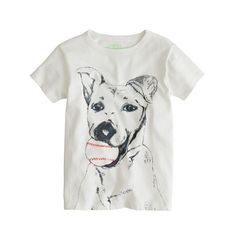Boys' baseball dog tee  J. Crew