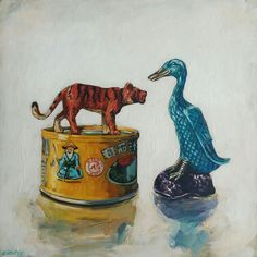 [New] The 10 All-Time Best Home Decor (Right Now) - Cheap by Doreen Shult - New paintings by Grace Kotze are now available online - they make the perfect gifts! 'The Old Man Tiger and Blue Duck' by Acrylic on board 35 x . South African Artists, Wood Painting Art, Bohemian Style Bedrooms, Blue Pictures, Scandinavian Interior Design, Gothic Accessories, Paintings For Sale, Online Art Gallery, Buy Art