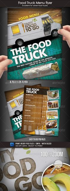 Food Truck Menu Flyer - Food Menus Print Templates