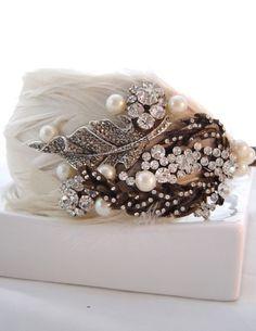 Feather headband Laura Diamante Feather Hairband
