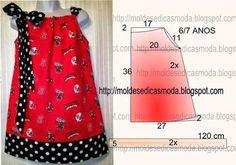 Patrones de blusas y vestidos para niñas