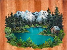 bob ross fishermans cabin paintings