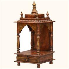 121 Best Wood Mandir Designs images in 2019   Mandir design, Hindus