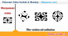 polynesian symbols and their meanings | Sample showing the Polynesian Marquesan cross symbol and its ...