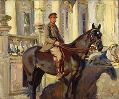 Alfred Munnings, Captain Prince Antoine of Orleans and Braganza, © Beaverbrook Collection of War Art, Canadian War Museum Alfred Munnings, Horse Posters, Grand National, Equine Art, Horse Art, Art Auction, House Painting, World War, Art Museum