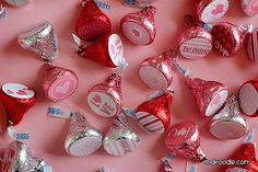 World's easiest Valentines' project: Printable Valentine labels you stick to the bottom of a Hershey's Kiss