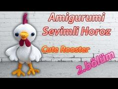 Cactus Amigurumi, Mini Amigurumi, Amigurumi Animals, Amigurumi Doll, Amigurumi For Beginners, Amigurumi Tutorial, Rooster, Penguin, Bunny
