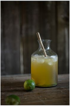 fresh lime and jasmine tea / this reminds me to make lime iced tea like i had in indonesia. A