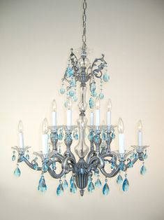 Diy chandelier makeovers blue chandelier redo easy ideas for old classic lighting 57112 ms 38 crystal chandelier from the via firenze collection crystalique sapphire aloadofball Gallery