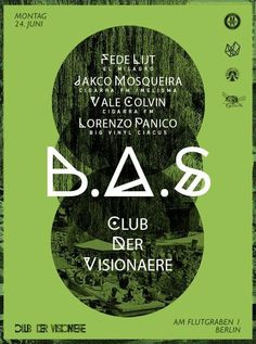 Berlin Aural Sessions   Club der Visionäre   https://beatguide.me/berlin/event/club-der-visionare-berlin-aural-sessions-20130624