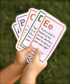 bible verse flash cards.