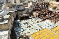 Tannerie de Fès. #fes #maroc #travel #tannerie #morocco Ends Of The Earth, Us Travel, Times Square, Exotic, Africa, Around The Worlds, Inspiration, Fez Morocco, Beautiful Places
