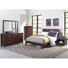 6PC:8A-26TINO60 Tino Chocolate Brown 6-Piece Cal-King Bedroom Set