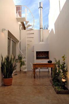 escada externa para espaço pequenos - Pesquisa Google